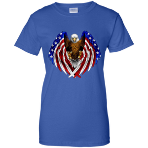 American Flag Eagle Wings T-Shirt