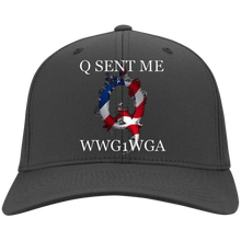 Load image into Gallery viewer, Charcoal Grey Q Sent Me WWG1WGA Q/Qanon Hat