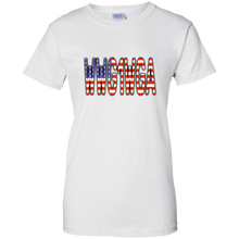 Load image into Gallery viewer, WWG1WGA American Flag Women's T-Shirt