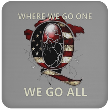 Load image into Gallery viewer, Grey WWG1WGA Q/Qanon Coaster