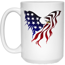 Load image into Gallery viewer, White Amercian Flag Eagle Mug