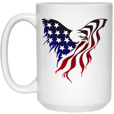 White Amercian Flag Eagle Mug