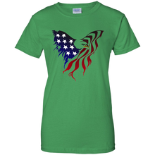 Load image into Gallery viewer, Green Amercian Flag Eagle T-shirt