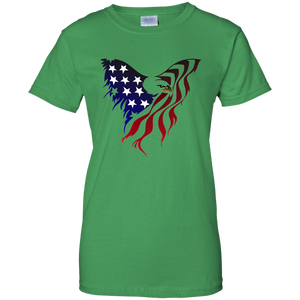 Green Amercian Flag Eagle T-shirt