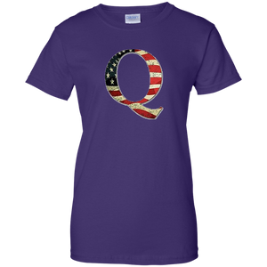 Purple Q American Flag Qanon/Q T-shirt