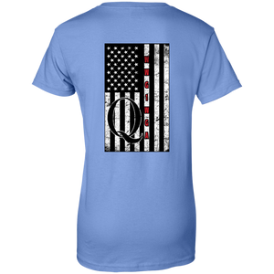 Blue Qanon WWG1WGA Flag Women's T-shirt