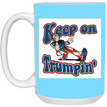 Load image into Gallery viewer, Light Blue Trump Ceramic Mug