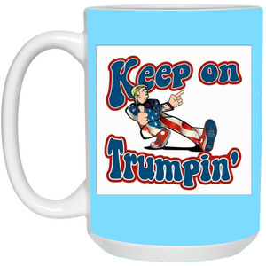 Light Blue Trump Ceramic Mug