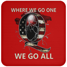 Load image into Gallery viewer, Red WWG1WGA Q/Qanon Coaster