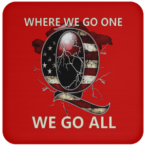 Red WWG1WGA Q/Qanon Coaster