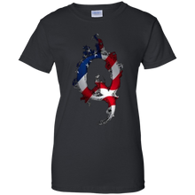 Load image into Gallery viewer, Black American Flag Flame Qanon/Q T-shirt