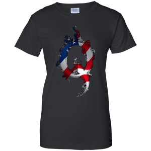Black American Flag Flame Qanon/Q T-shirt