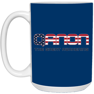 Royal Blue Qanon The Great Awakening Mug