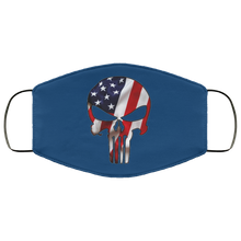 Load image into Gallery viewer, Qanon American Flag Skull Face Mask