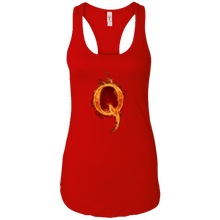 Load image into Gallery viewer, Red Qanon Q On Fire Tank Top