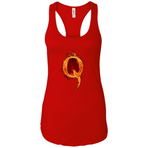 Red Qanon Q On Fire Tank Top