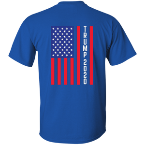 Royal Blue Trump 2020 Flag Men's T-shirt