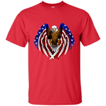 Load image into Gallery viewer, Red American Flag Eagle Wings T-shirt