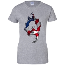 Load image into Gallery viewer, Grey American Flag Flame Qanon/Q T-shirt