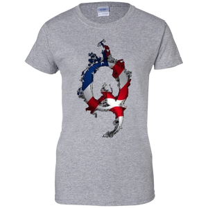 Grey American Flag Flame Qanon/Q T-shirt
