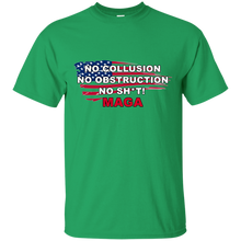 Load image into Gallery viewer, Green Trump - No Collusion No Obstruction No Sh*t MAGA T-shirt