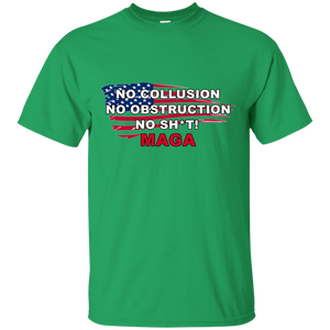 Green Trump - No Collusion No Obstruction No Sh*t MAGA T-shirt