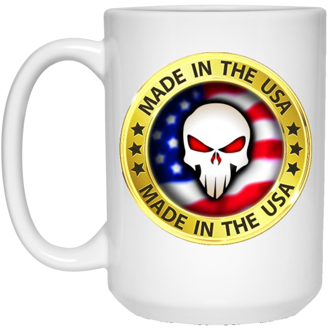 White Joe M Logo Qanon Mug