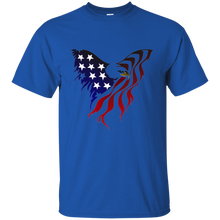 Load image into Gallery viewer, Royal Amercian Flag Eagle T-shirt