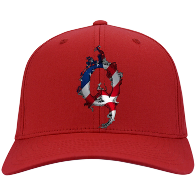 Red American Flag Flame Qanon/Q Hat