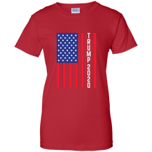 Load image into Gallery viewer, Red Trump 2020 Flag Women's T-shirt