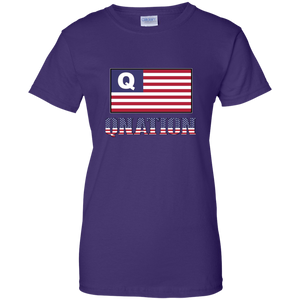 Purple Qnation Q/Qanon T-shirt