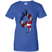 Load image into Gallery viewer, Royal American Flag Flame Qanon/Q T-shirt