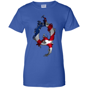 Royal American Flag Flame Qanon/Q T-shirt