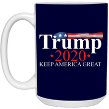 Load image into Gallery viewer, Navy Blue Trump 2020 Keep America Great Mug