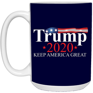 Navy Blue Trump 2020 Keep America Great Mug