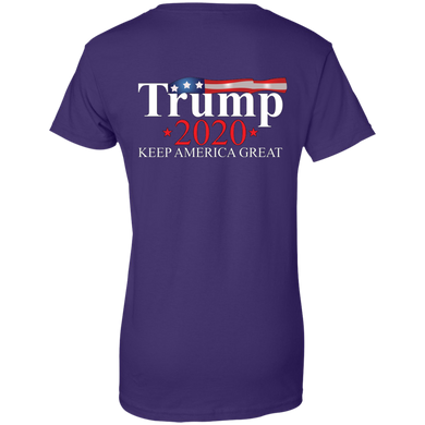 Purple Trump 2020 Keep America Great T-shirt