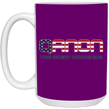 Load image into Gallery viewer, Purple Qanon The Great Awakening Mug