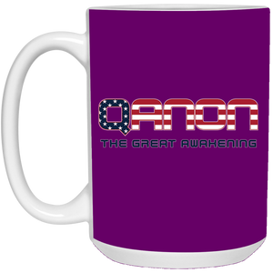 Purple Qanon The Great Awakening Mug