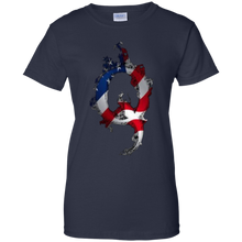 Load image into Gallery viewer, Charcoal Grey American Flag Flame Qanon/Q T-shirt