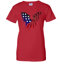 Load image into Gallery viewer, Red Amercian Flag Eagle T-shirt