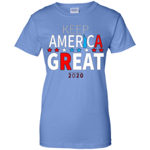 Load image into Gallery viewer, Light Blue Trump - Keep America Great T-shirt