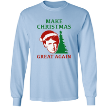 Load image into Gallery viewer, Make Christmas Great Again Trump Men's LS Ultra Cotton Shirt
