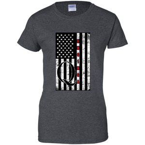 Charcoal Grey Qanon WWG1WGA Flag Women's T-shirt