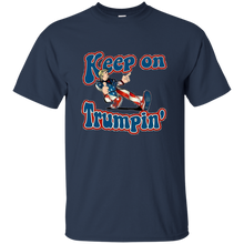 Load image into Gallery viewer, Navy Blue Trump Keep On Trumpin Kids T-shirt