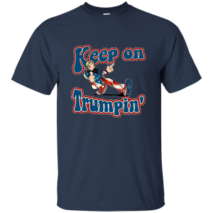 Navy Blue Trump Keep On Trumpin Kids T-shirt