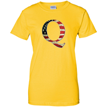 Load image into Gallery viewer, Yellow Q American Flag Qanon/Q T-shirt