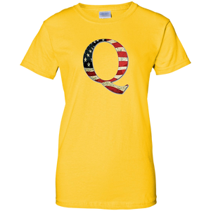 Yellow Q American Flag Qanon/Q T-shirt