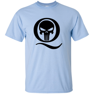 Light Blue Q Skull Q/Qanon T-shirt