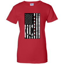 Load image into Gallery viewer, Red Qanon WWG1WGA Flag Women's T-shirt