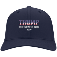 Load image into Gallery viewer, Navy Blue Trump Elect That MF'er Again 2020 Hat
